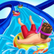 play Slippery Water Slides Aquapark.io